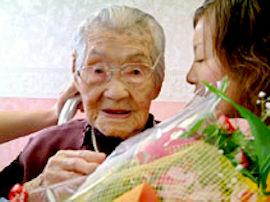 Yone Minagawa loving life